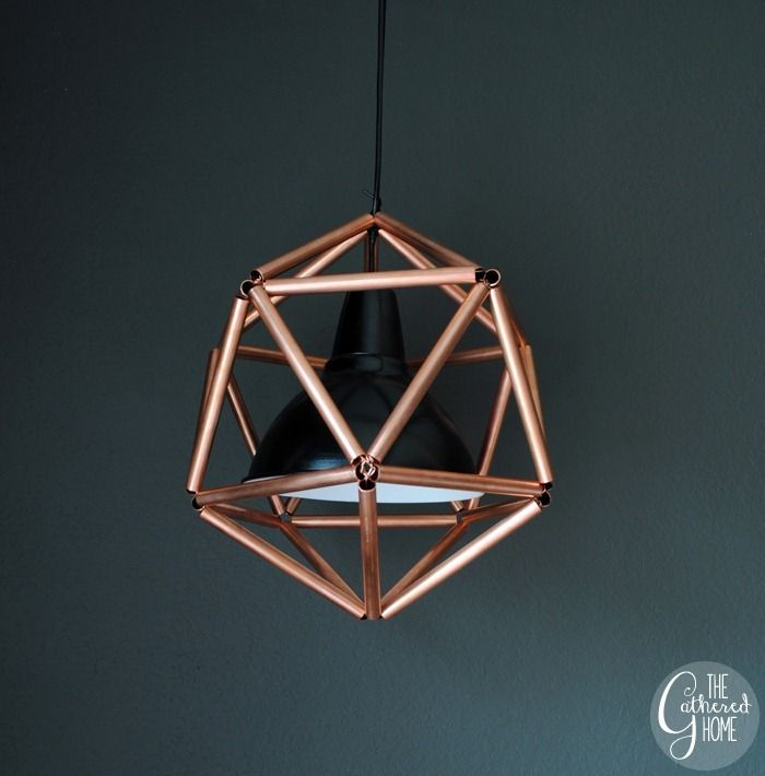 Diy Copper Pipe Icosahedron Light Fixture Copper Pets