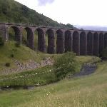 Smardale Gill viaduct, nära byn Newbiggin-on-Lune, England