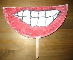 Funny Teeth Craft to promote dental health! Pediatric Dentist St. Louis - www.kidsdentistry.com