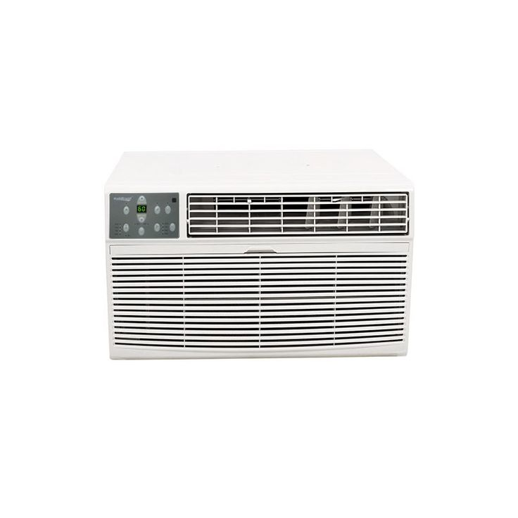 Koldfront WTC8001W 8000 BTU 115V Through the Wall Air Conditioner with 4200 BTU White Air Conditioners Through Wall Cooler And Heater