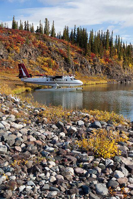 Coppermine River, Nunavut, Canada in the fall. #arctic #Canada #travel the Havilland twin Otter.