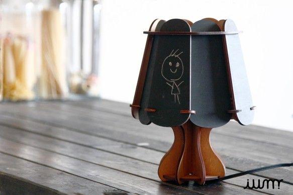 黒板ナイトランプ/丸型|照明(ライト)・ランプ|ハンドメイド通販・販売のCreema