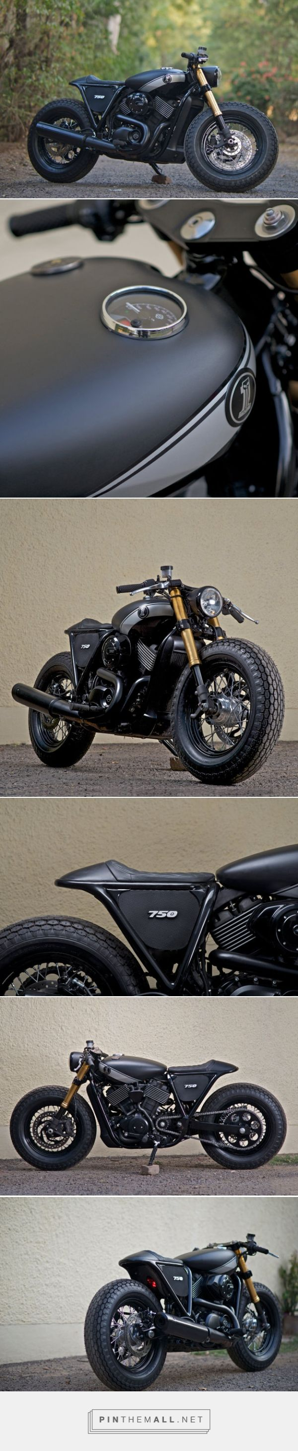 This cafe-style Harley-Davidson Street 750 comes from Rajputana Customs. Click…