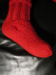 knitted with double yarn