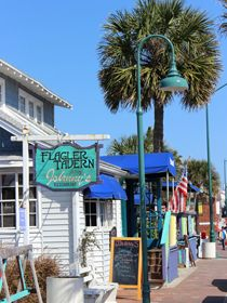 Shops and taverns along Flagler Avenue appeal to visitors who want to enjoy that beachside town atmosphere.