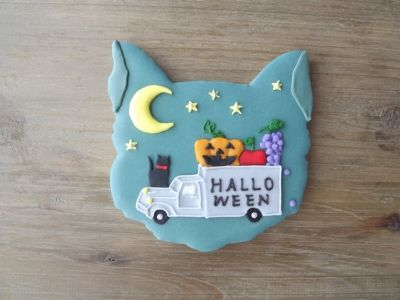 helloween cookie w/ kitty cat