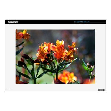 """Alstromeria 2 skins for 15"""" laptops - photography gifts diy custom unique special"""