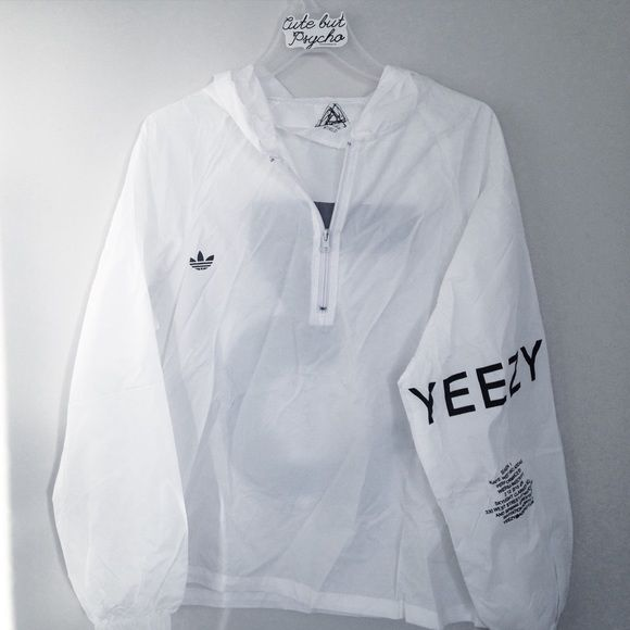 yeezus x adidas windbreaker new | free brandy stickers included Adidas Jackets & Coats