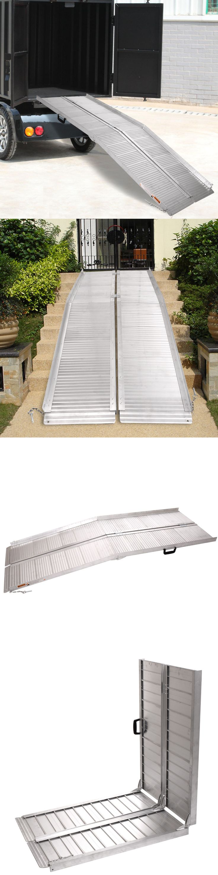 Access Ramps: 7 Aluminum Wheelchair Ramp Fold Handicap Scooter Ramp Portable Mobility BUY IT NOW ONLY: $175.99