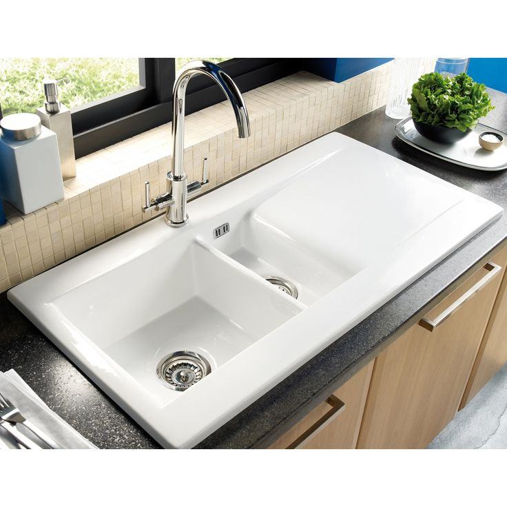 Astracast Liscio 1.5 Bowl White Ceramic Kitchen Sink & Waste LS15WHHOMESK - Astracast from TAPS UK