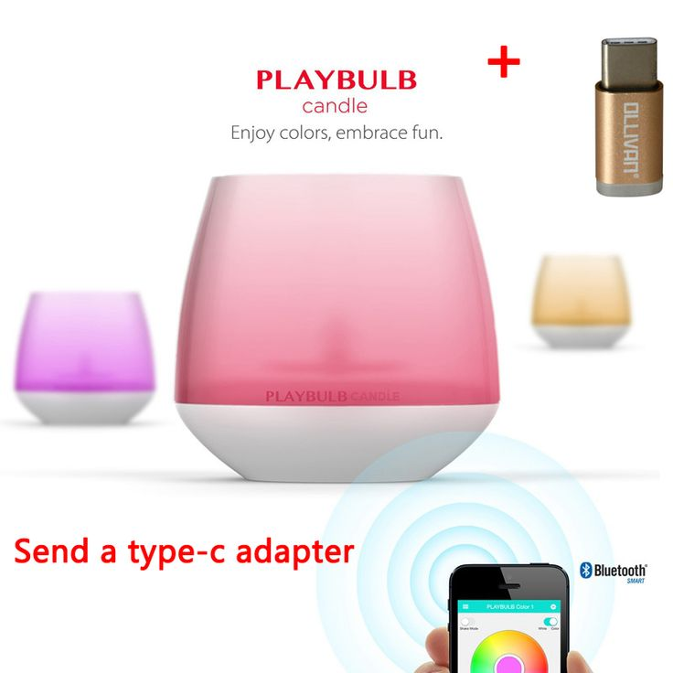 MIPOW Playbulb Smart Bluetooth LED Candle Light Home Wireless Aromatherapy Nightlight Changeable Colors With APP Control