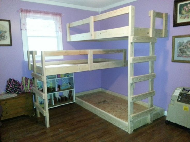 DIY Triple Bunk Bed | The Owner-Builder Network  Used ...