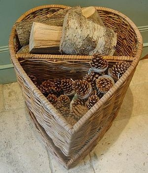 Heart-Shaped Log Basket, use as a holder of goodies or mount on the wall with seashells, flowers and more décor. Love is all around you! #allcouplesallowed #allweddingsallowed  http://www.destinationweddings.travel/