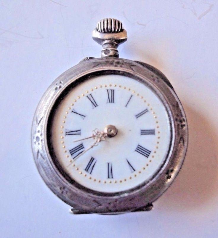 Ladies Pochet Watch Open Face Silver Case Hallmarked