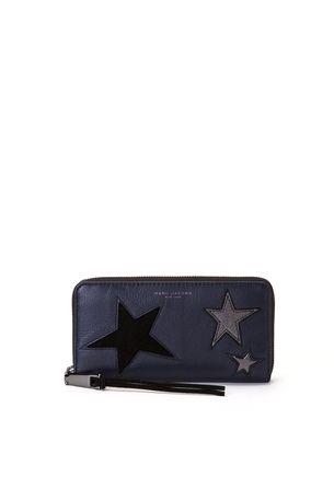 star patchwork standard continental wallet