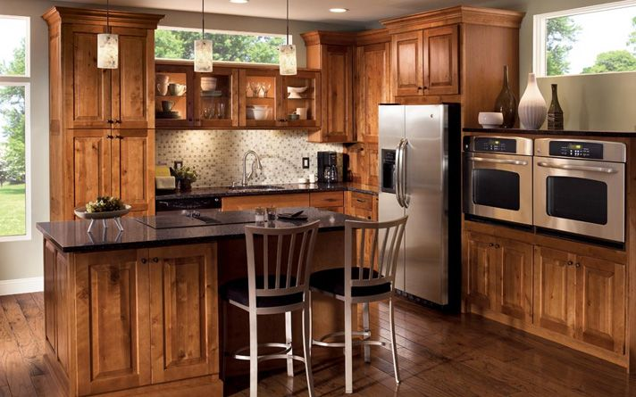 Modern rustic kitchen cabinets by kraftmaid the natural - Modern rustic kitchen cabinets ...