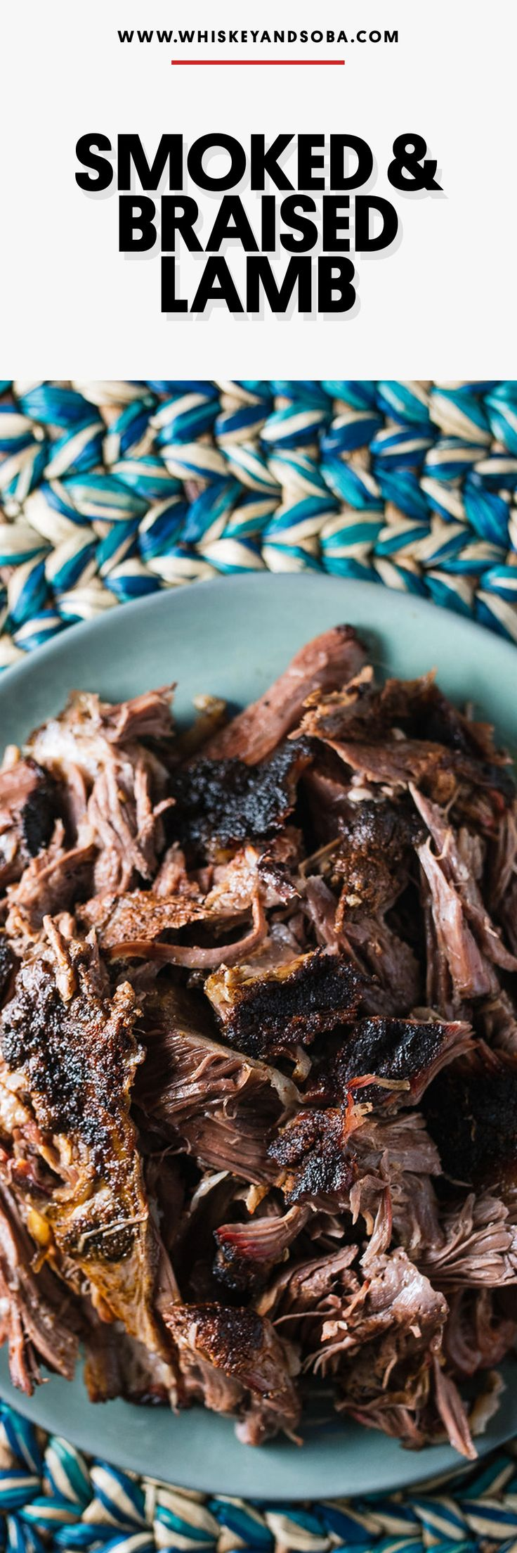A worthy addition to your BBQ portfolio: smoked then braised lamb. The perfect meat for tacos, sandwiches, or rice bowls!