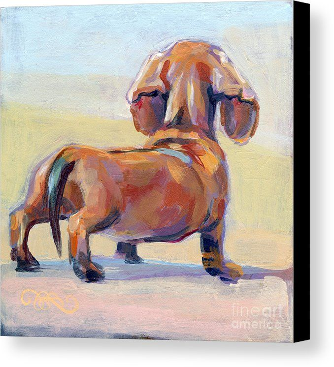 Puppy Butt Canvas Print by Kimberly Santini.  All canvas prints are professionally printed, assembled, and shipped within 3 - 4 business days and delivered ready-to-hang on your wall. Choose from multiple print sizes, border colors, and canvas materials.