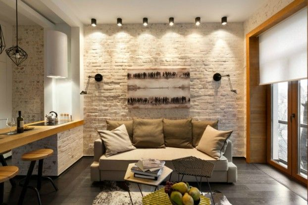 TEXTURAS Y LUCES  Contemporary 40 square meter 430 square feet Apartment 16