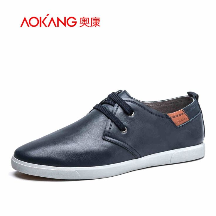 AOKANG 2016 Brand Men Casual Shoes Genuine Leather Hollow Summer Men Flats Zapatos Non-Slip Resistant To Bending Cool Men Shoes