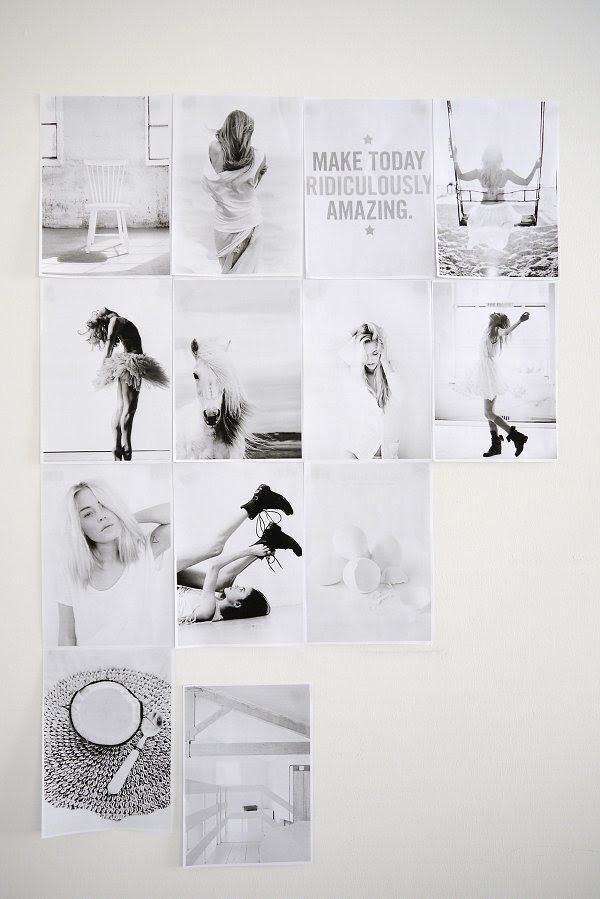 Wall mood board