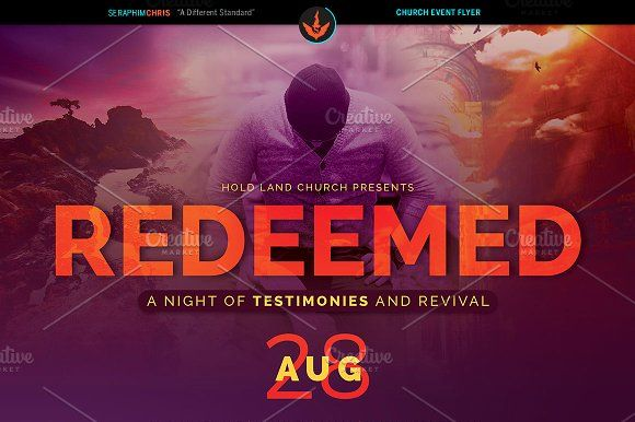 Redeemed Revival Church Flyer by SeraphimChris on @creativemarket