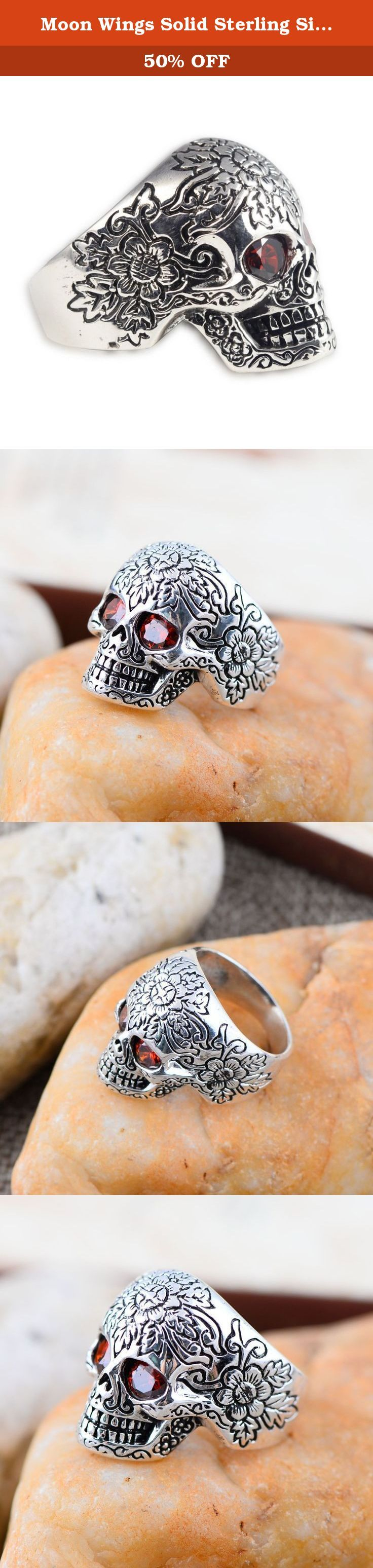 Moon Wings Solid Sterling Silver Skull Vintage Mens Ring Size 11. Product specifications Weight: approx. 10.70 g (solid sterling silver); Ring Size: 11 (US Ring Size); Ring Surface: 2.2cm * 1.4cm Material 100% international standard S925 sterling silver. Sterling silver refers to 92.5% silver content. Due to additional content, S925 is resistant to deformation not easy deformation. And the hardness of the S925 sterling silver is also greatly enhanced. Our sterling silver jewelry has…