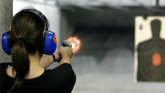Tiro com armas no Orlando Gun Club em Orlando #viagem #orlando #disney