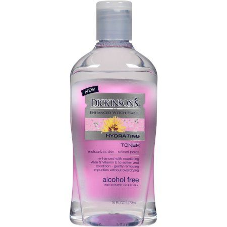 Dickinson's Enhanced Witch Hazel Hydrating Toner, 16 fl oz - Walmart.com