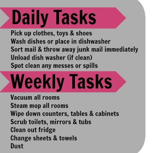 Best 25+ Weekly house cleaning ideas on Pinterest House cleaning - cleaning schedule template