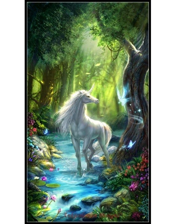 Forest Unicorn 2 Counted Cross Stitch Patterns Unicorn And Fairies Fairy Wallpaper Unicorn Wallpaper Unicorn live wallpaper iphone