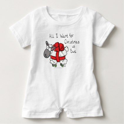 #cute #baby #bodysuits - #All I Want for Christmas is Ewe Sheep Cartoon Baby Baby Romper