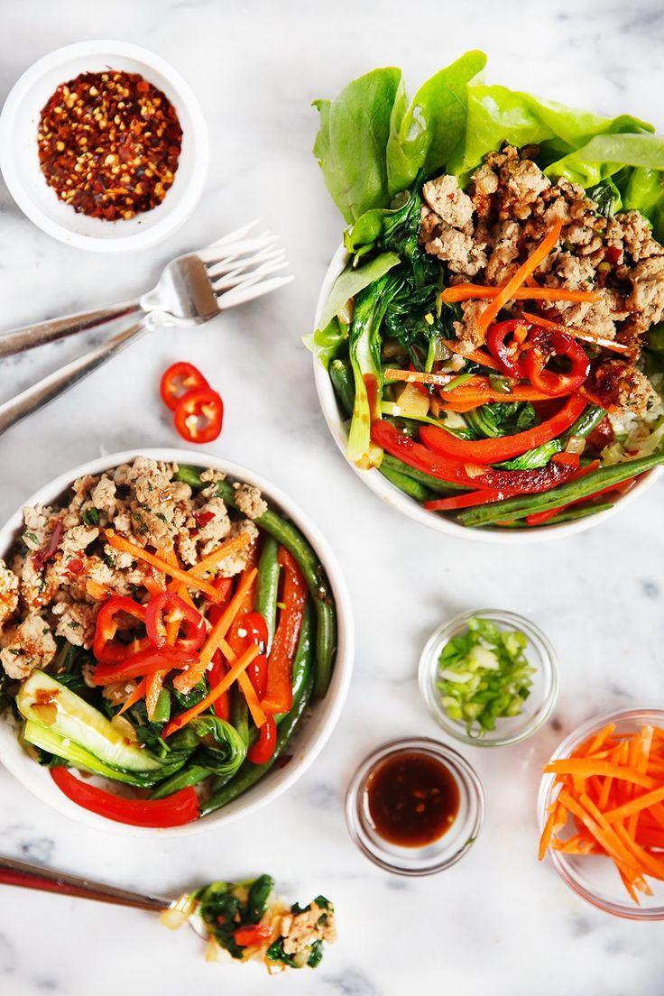 30-Minute Thai Basil Turkey Bowls | Lexi's Clean Kitchen