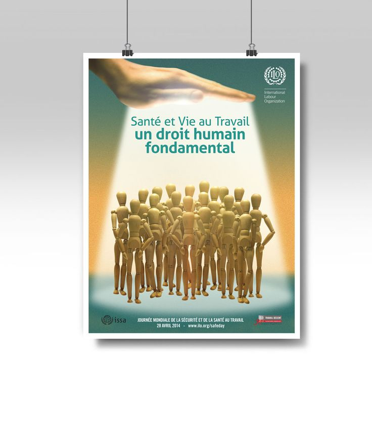 International Labour Organization - Poster design for the world day for safety and health at work