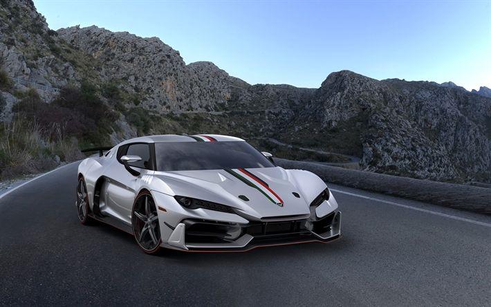 Descargar fondos de pantalla Italdesign Zerouno, 2018 coches, hypercars, los autos italianos, Italdesign