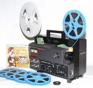 reel to reel projectors for sale | ELMO GS 1200 SUPER 8 SOUND PROJECTOR 1200 FT REEL STEREO MAGNETIC