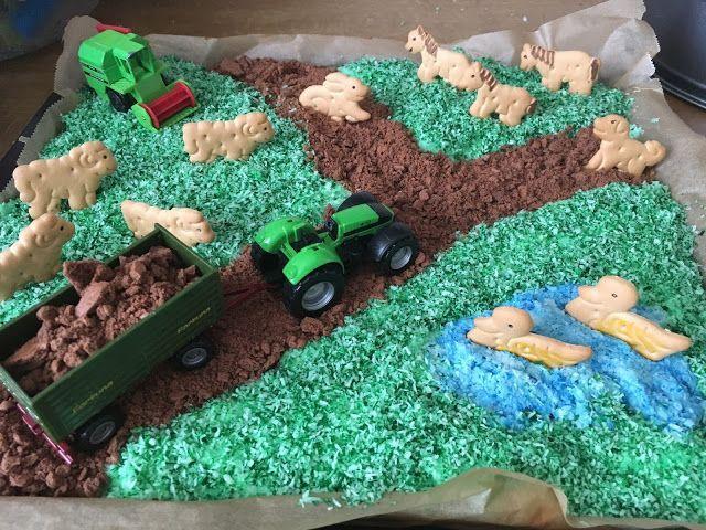 Kindergeburtstag Kuchen Kindergeburtstag Bauernhof Kindergeburtstagstorte Kuchen Kindergeburtstag Traktor
