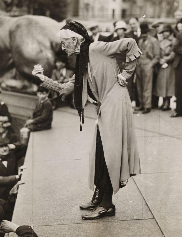 Charlotte Despard (1844-1939), speaking at an anti-fascist rally in London, June 1933