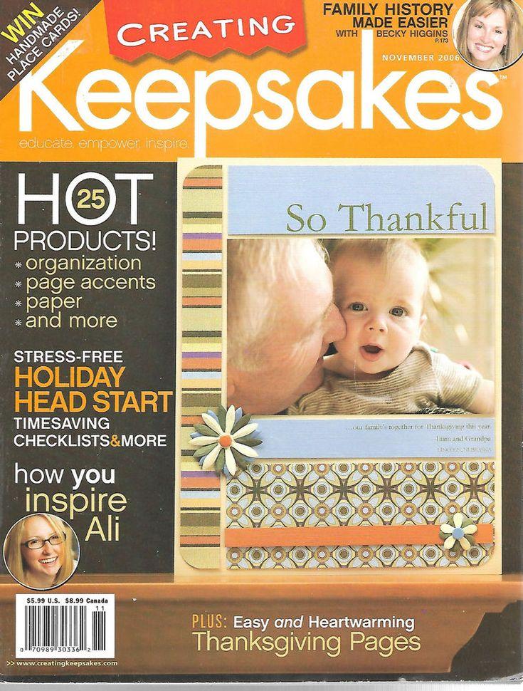 Creating Keepsakes Magazine November 2006 Scrapbooking Paper Crafting #CreatingKeepsakes