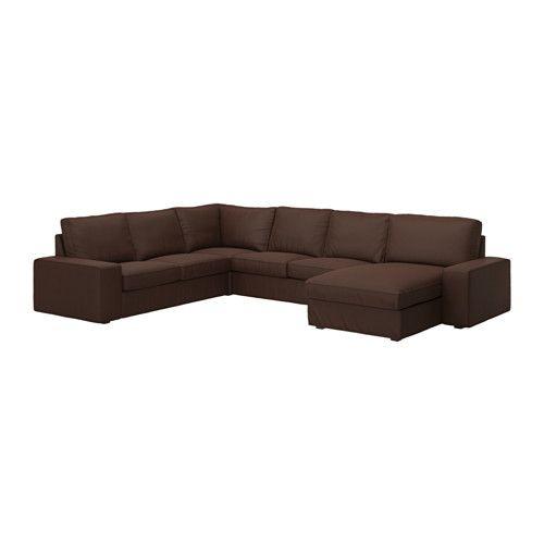 KIVIK Corner sofa 2+2 with chaise - Tullinge dark brown - IKEA