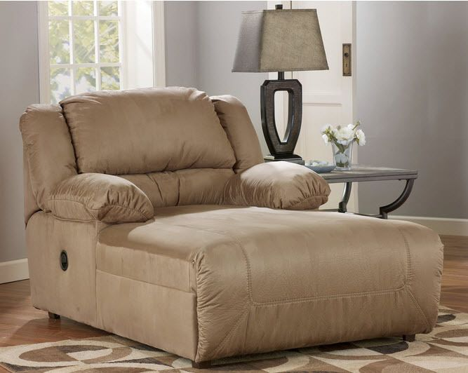 Chaise Lounge Recliner Beige Microfiber Living Room Chair Man Cave Furniture NEW #Modern