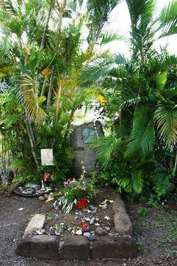 Jacques Brel, cimetière d'Atuona à Hiva Oa, Marquises - Polynésie française
