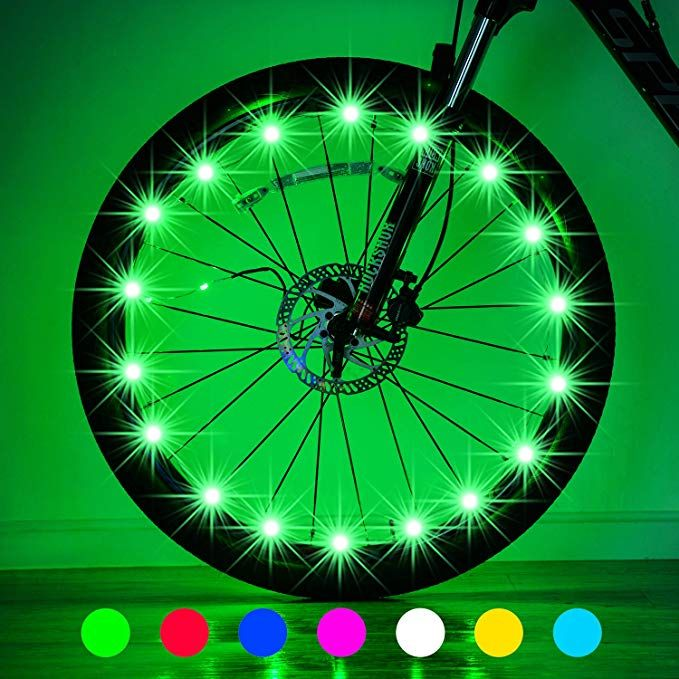 Evaduol Bike Wheel Lights 7 Colors In 1 Bike Lights Safety At