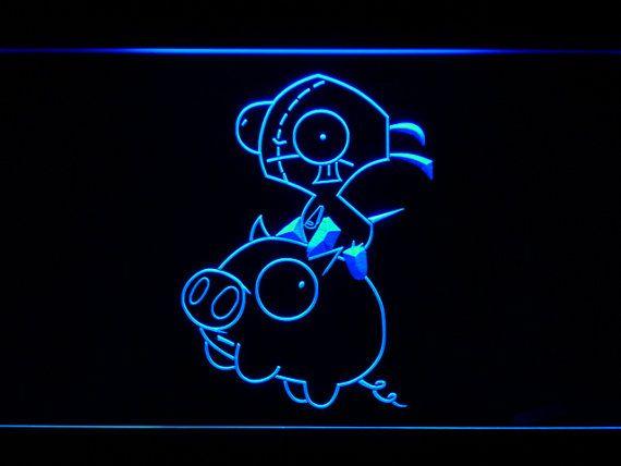 Invader Zim Piggy LED Neon Sign Home Man Cave G224 by LEDengraver