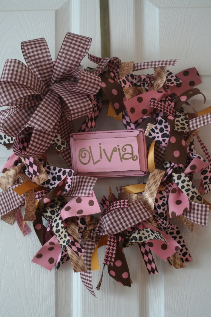 design {etc}: ribbon wreath for baby olivia...
