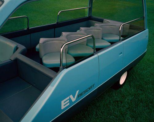 Nissan EV Resort, 1985. An electric bus designed for...
