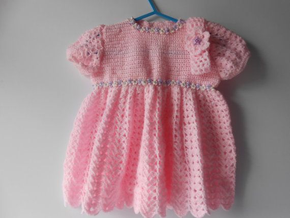 Baby Dress Crochet Baby Dress with headband Baby by AluraCrafts, €20.00