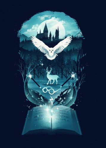 Book of Fantasy by Dan Fajardo | metal posters – For Potterheads
