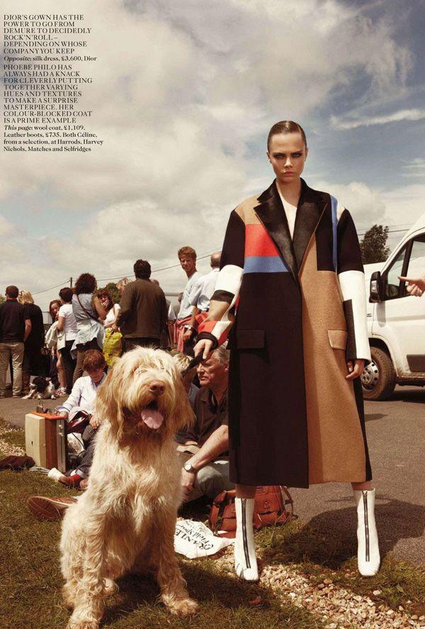 Car Boot Sale Chic: Cara Delevingne for British Vogue November 2012 #london #fashion #vogue #models