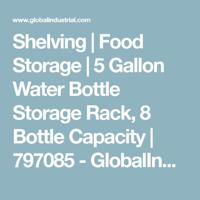 Shelving | Food Storage | 5 Gallon Water Bottle Storage Rack, 8 Bottle Capacity | 797085 - GlobalIndustrial.com
